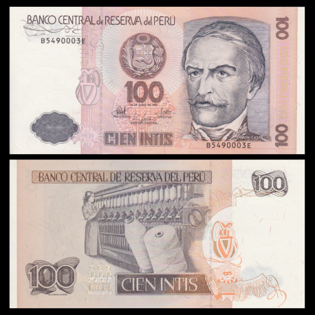 Pérou, P-133, 100 intis, 1987
