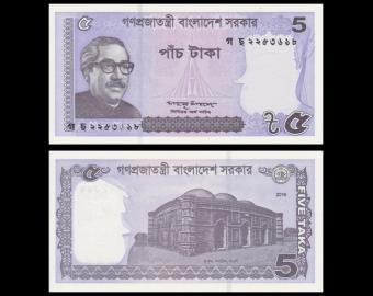 Bangladesh, p-64Aa, 5 taka, 2016