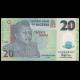 Nigéria, p-34l, 20 naira, Polymère, 2016