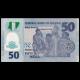 Nigeria, P-40f, 50 naira, 2016, Polymer