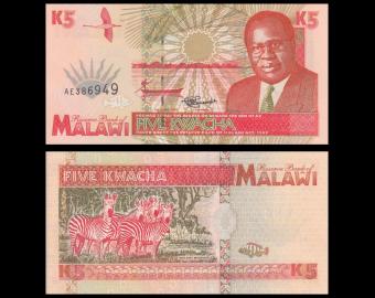 Malawi, P-30, 5 kwacha, 1995