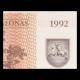 Lithuania, P-39, 1 talonas, 1992