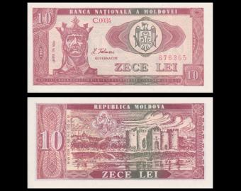 Moldavie, p-07 10 lei, 1992