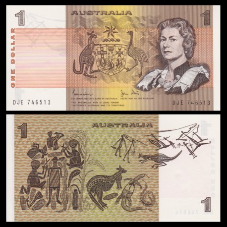 Australia, P-42d, 1 dollar, 1983