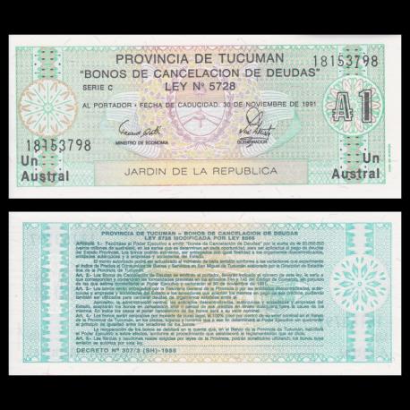 Tucuman, P-S2711b, 1 austral, 1991