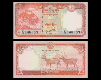 Nepal, p-New, 20 roupies, 2016