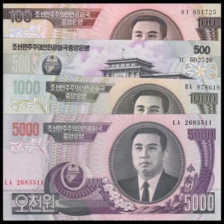 C, P-43a 44b 45b 46b, serie 4 billets, 6600 won, 1992 06 07