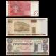 Lot 3 banknotes of 20 : Belarus, Guyana & Kirghizistan