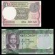 Lot 2 banknotes of 1 : India & SSd