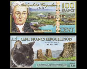 Kerguelen, 100 francs, Polymère, 2012