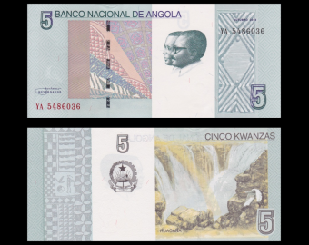 Angola, p-151A, 5 kwanzas, 2012