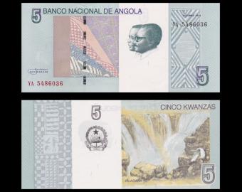 Angola, p-new, 5 kwanzas, 2012
