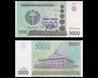 Uzbekistan, p-83, 5000 sum, 2013