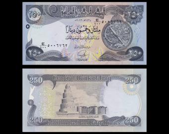 Iraq, P-97, 250 dinars, 2013