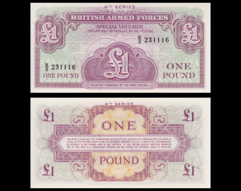British Armed Forces, p-M36, 1 pound, 1962