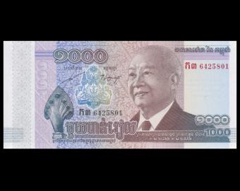 Cambodia, P-63, 1000 riels, 2012
