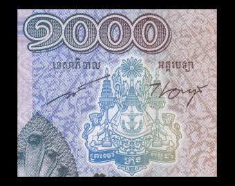 Cambodge, P-63, 1000 riels, 2012