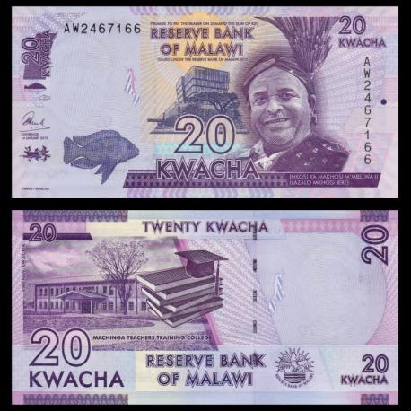 Malawi, P-63b, 20 kwacha, 2015