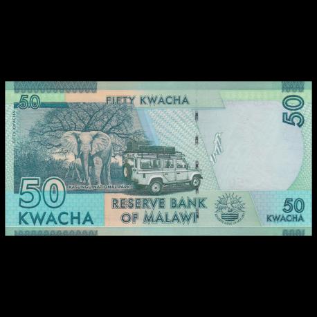 Africa P-64c 2016 Banknotes UNC Malawi 50 Kwacha