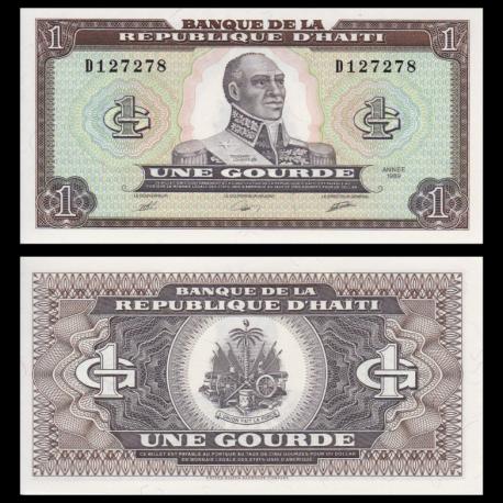 Haiti, p-253a, 1 gourde, 1989