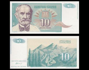 Yugoslavia, p-138, 10 dinara, 1994