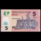 Nigeria, P-38f, 5 naira, polymère, 2015