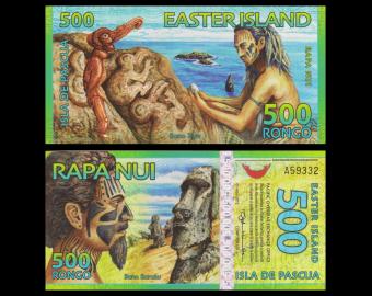 Easter Island, 500 Rongo, Polymer, 2012