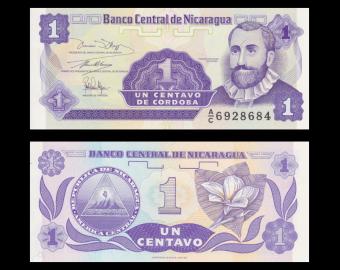 Nicaragua, P-167, 1 centavo, 1991