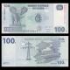 Congo, P-98b, 100 francs, 2013