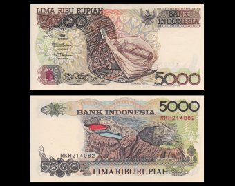 Indonesia, P-130h, 5000 rupiah, 1999