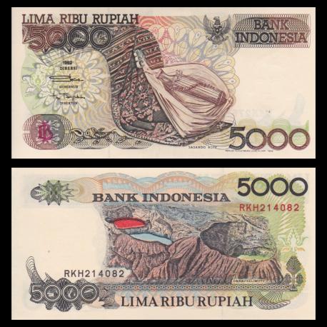 Indonésie, P-130h, 5000 rupiah, 1999