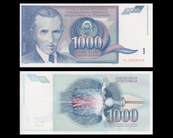 Yougoslavie, p-110, 1 000 dinara, 1991