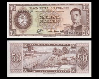 Paraguay, P-197b, 50 guaranies, 1963