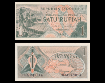 Indonesia, P-078, 1 rupiah, 1961