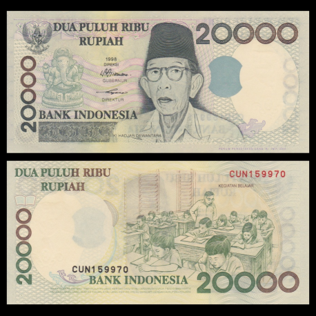 Indonésie, P-138d, 20000 rupiah, 2001