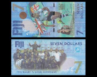 Fiji, P-120, 7 dollars, 2016