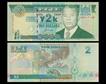 Fidji, P-102, 2 dollars, 2000