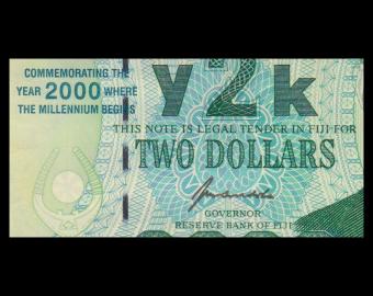 Fiji, P-102, 2 dollars, 2000