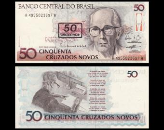Brésil, P-223, 50 cruzeiros, 1990