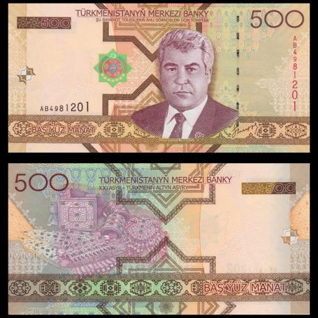 Turkménistan, P-19, 500 manat, 2005