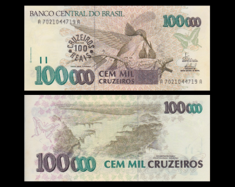 Brazil, P-238, 100 Cruzeiros Reais, 1993