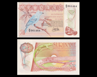 Suriname, p-119, 2½ gulden, 1985