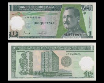 Guatemala, P-109, 1 quetzal, polymer, 2006