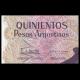 Argentine, P-316, 500 pesos argentinos, 1984
