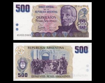 Argentina, P-316, 500 pesos argentinos, 1984, P-Neuf / A-UNC