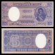 Chili, p-119a, 5 pesos, 1958