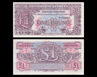England British Armed Forces, P-M22a, 1 pound, 1948