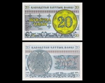 Kazakhstan, P-05, 20 tiyn, 1993