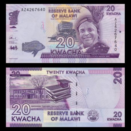 Malawi, P-63c, 20 kwacha, 2016