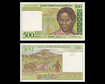 Madagascar, P-75a, 500 francs, 1994, SUP/ExtFine